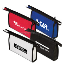 Promotional Custom Small Non Woven Zipper Pen Pouch Cosmetic bag