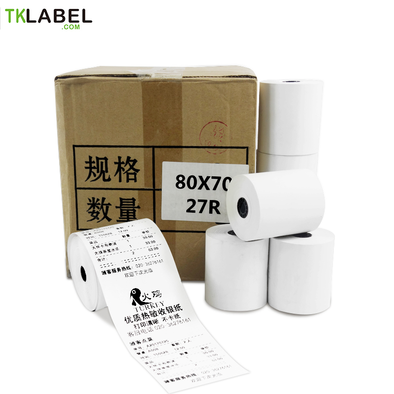 "3 Rolls x Thermal Paper Rolls 80 mm BPA free Receipt POS Paper roll 3 1/8"" free delivery"