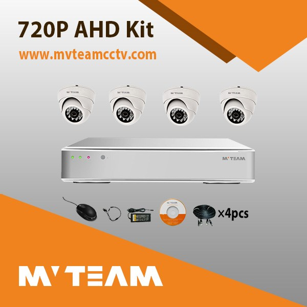 Factory Cheap 4CH CCTV Camera DVR Kit for Indoor Use with 4 20 meters Cable Free Mobile Phone APP