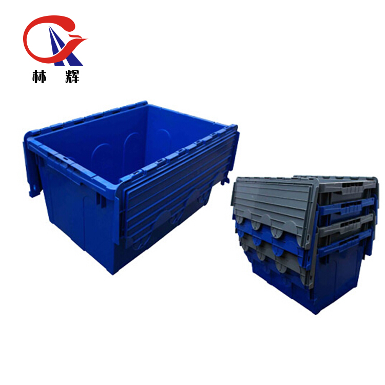 50L Crates Plastic Square Cheapest Packaging Boxes Stackable Plastic Crate for fish fruits and vegetables