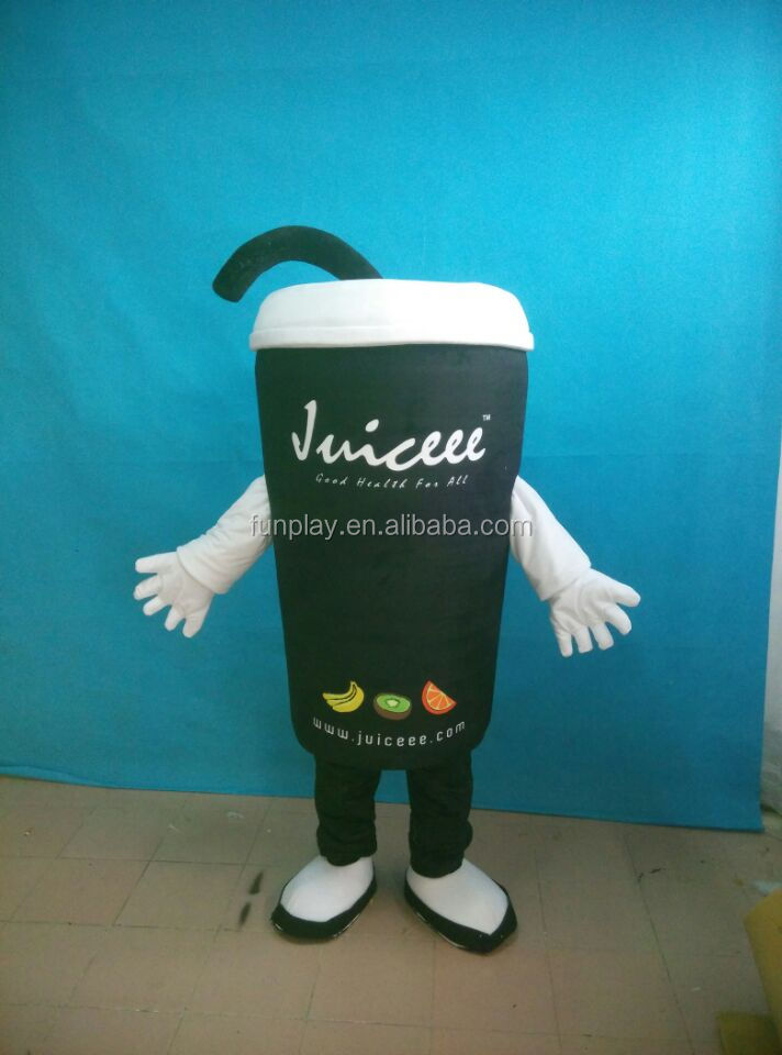 HI CE High quality cartoon character mascot costumes coffee cup mascot costume