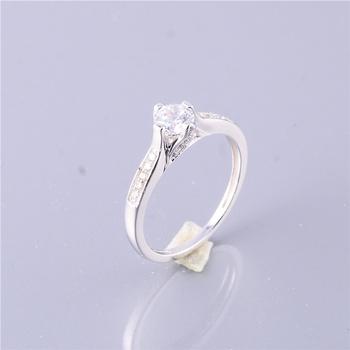 White Cubic Zircon Stone 925 Sun Silver Diamond Ring For Women - Buy Lucky  Stone Silver Ring,Silver Ring Designs For Girl,Factory Direct Sale 925