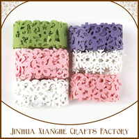 flower felt roll die cut felt shapes trim