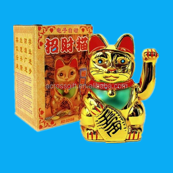 hot sale golden porcelain lucky cat maneki neko