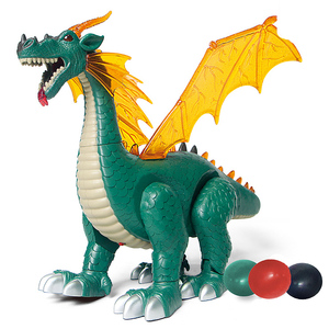 Jurassic world dinosaur toy electric simulation ABS material model walk with laying egg