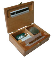 Custom High Quality Engraved Bamboo Wood Rolling Tool Box