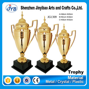 manufacturer custom super shine big ear champions trophies with tallest size