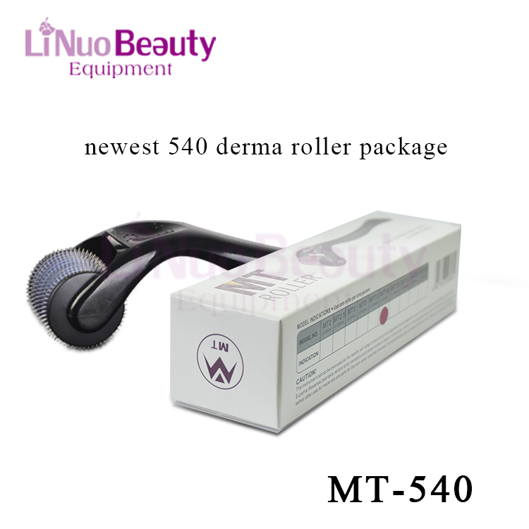 Linuo Newest 540 Derma Roller System Customized Dermaroller Micro Needles Skin Scar Therapy