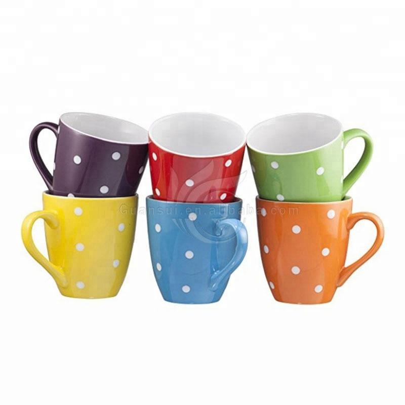 Vendite calde Tazza di Caffè Set Set di 6 di Grandi dimensioni 16 Once Tazze di Caffè di Ceramica