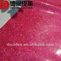 2012 HOT selling red glitter pvc leather for sofa S9002A