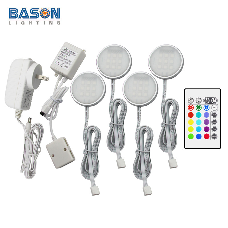 Battery Operated Under Cabinet Lighting Kitchen: BASON Kitchen Led Under Cabinet Lights Dimmable With