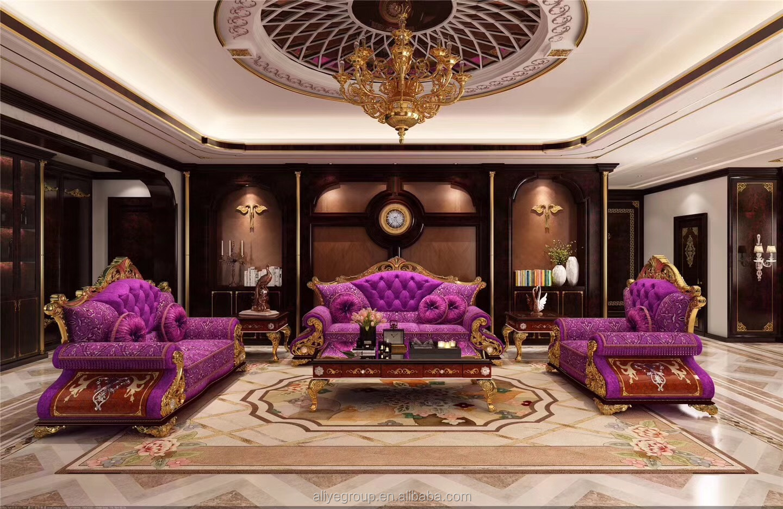 Moderne Wohnzimmer Interior Design Italienische Klassische Möbel Luxus  Antiken Sofa Gold Schwarz