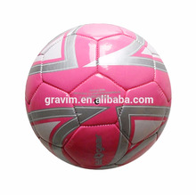 pink color custom color PU/PVC/TUP machine sewed soccer ball