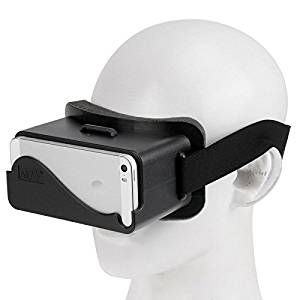 NJ-3D 1688A+ Virtual Reality 3D Video Glasses for iPhone 5 & 5S & 5C(Black)