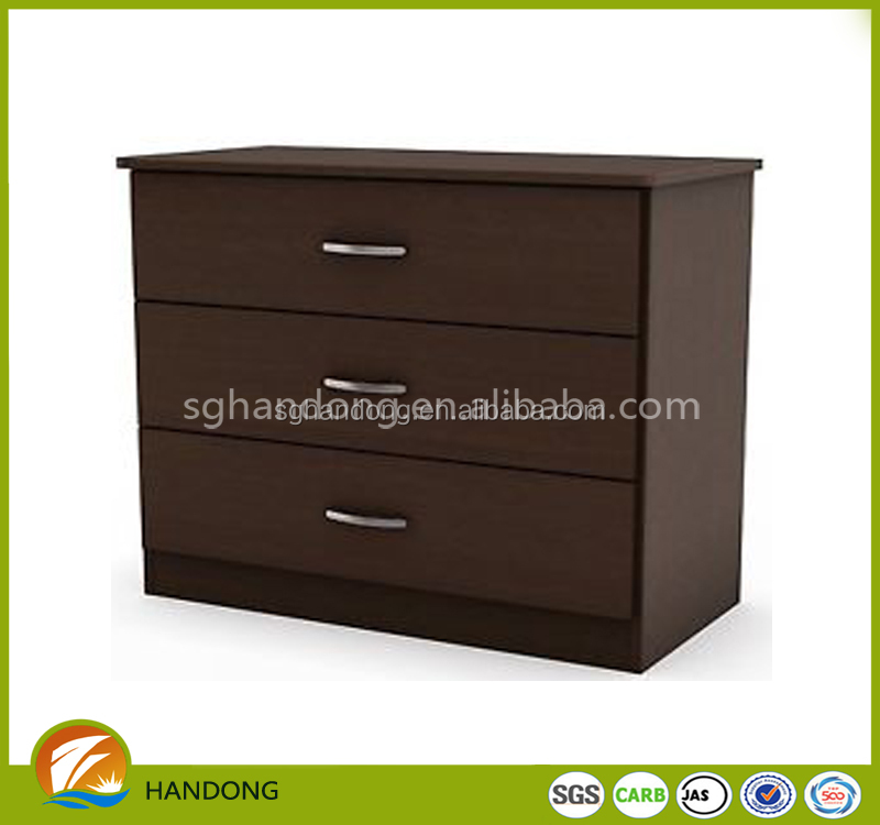 Hot Sale walnut Mini Wood chest of drawer design with Drawers