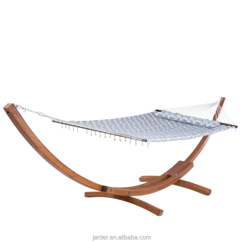 Wood hammock set with cotton