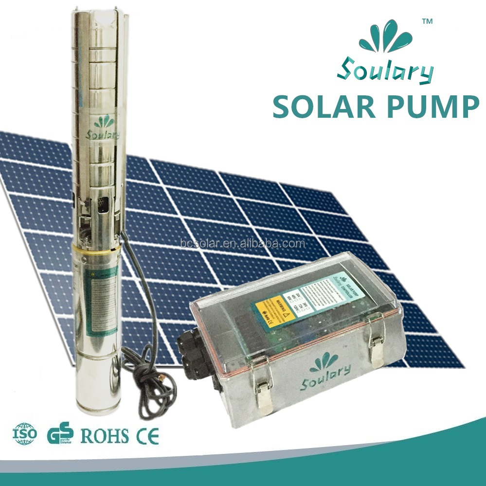 1hp 1.5hp 2hp irrigation solar water pump dc brushless 316 stainless steel