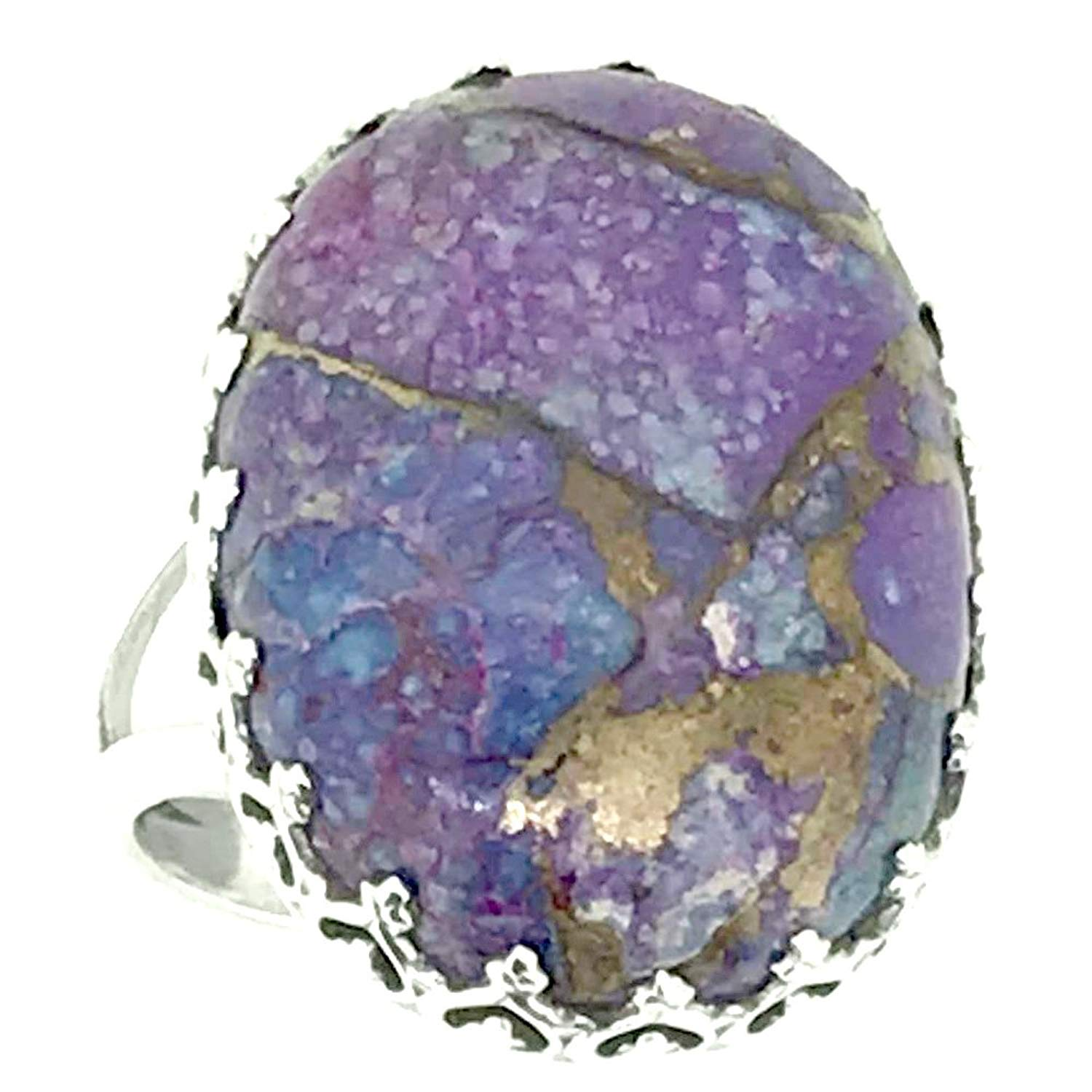 srgjewellers Copper Turquoise Gemstone 925 Sterling Silver Ring US Size-5.75 Handmade Jewelry # 14663-5