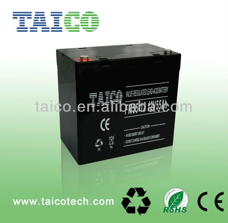 Lead Acid Deep Cycle Battery for UPS OP-12V55Ah/D 12V 55ah Deep Cycle Battery