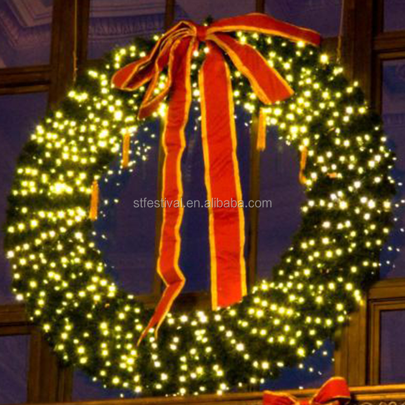 Giant christmas wreath decorative supplies wholesale for outdoor giant christmas wreath decorative supplies wholesale for outdoor decoration mozeypictures Images