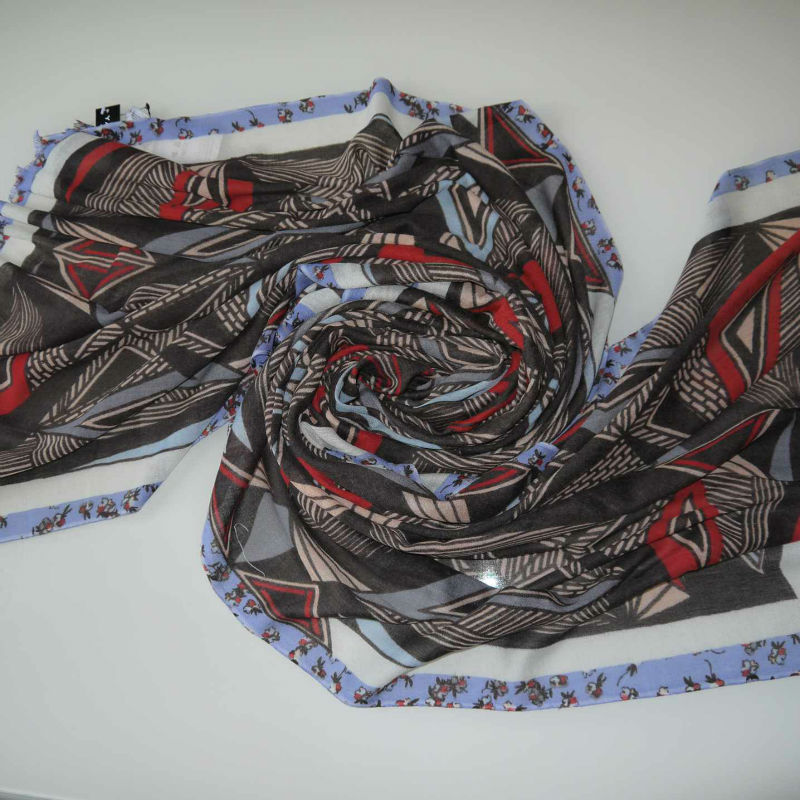 silk scarf printed pashimina hot sale