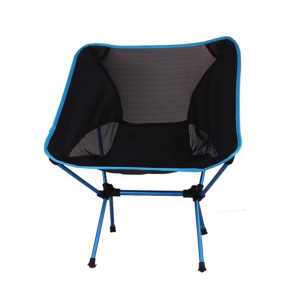 TOOGOO(R) Portable Folding Camping Stool Chair Seat for Fishing Festival Picnic BBQ Beach with Bag (Dark Blue)