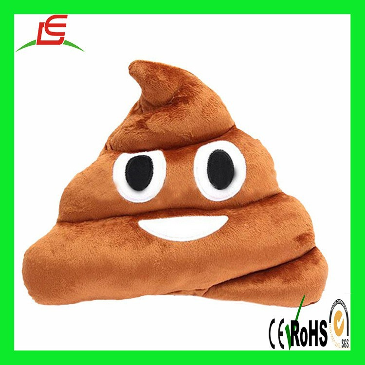 Stuffed Pillow Cushion Emoji Poop Shape Smiley Face doll Toy