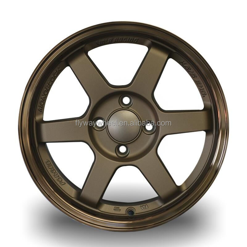 FLYWAY H636 NUOVI RAGGI TE37 VOLK RACING WHEEL 15x7.0 pollici
