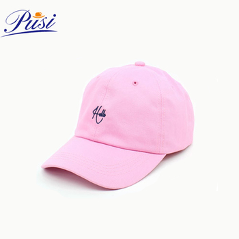 de61b2908cd45 Pink Unstructured Dad Hats 3D embroidery Baseball Cap for Woman girl