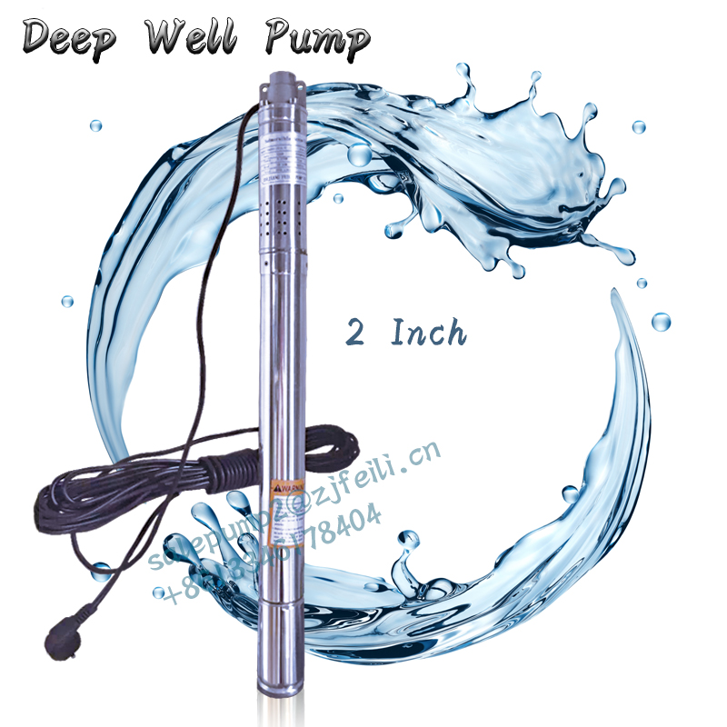 <strong>220</strong> <strong>v</strong> 50HZ 2 submersible pump deep water pump agricultural irrigation deep well pump