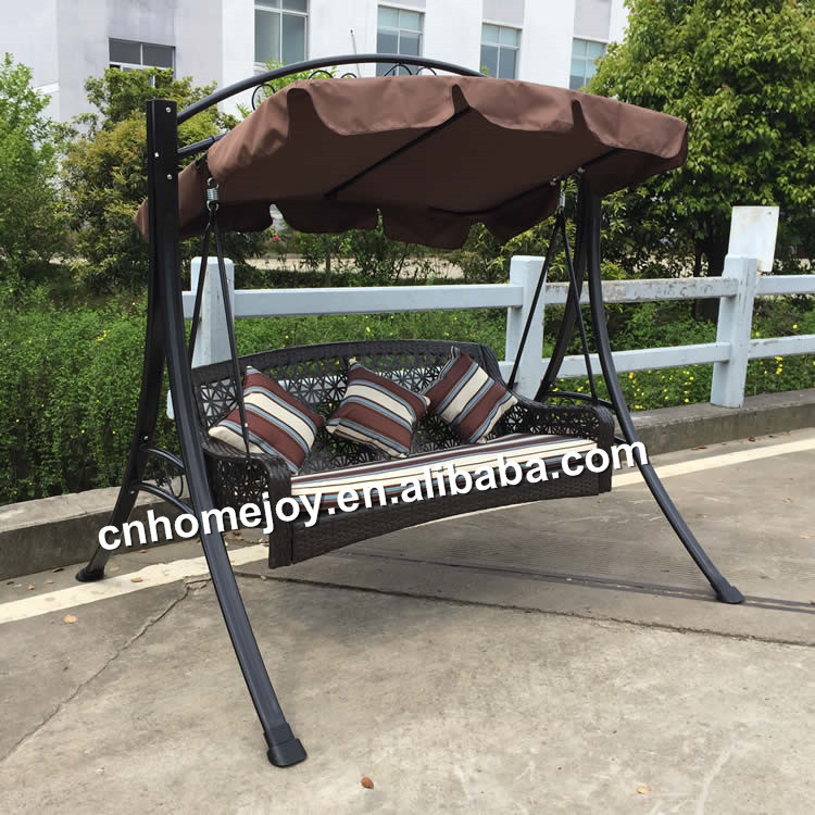 High Quality 3 Seater Rattan Swing Chair,Hanging Wicker Swing Chair ...