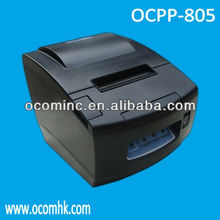 OCPP-805-URL --- Black Color Receipt Printer Wifi Thermal Printer With USB, Serial, LAN 3 Interfaces Together And Auto Cutter