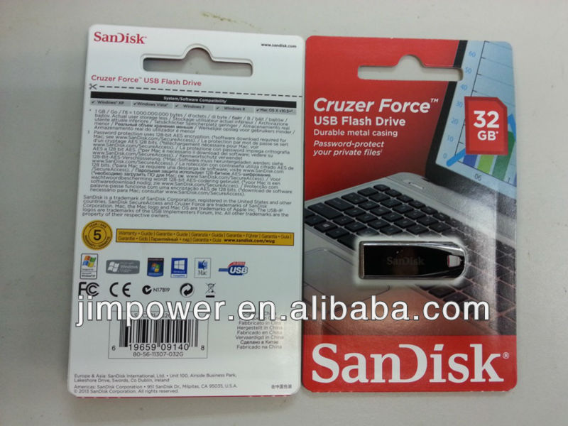 SDCZ71-032G SanDisk Cruzer Force USB 32G Flash Drive