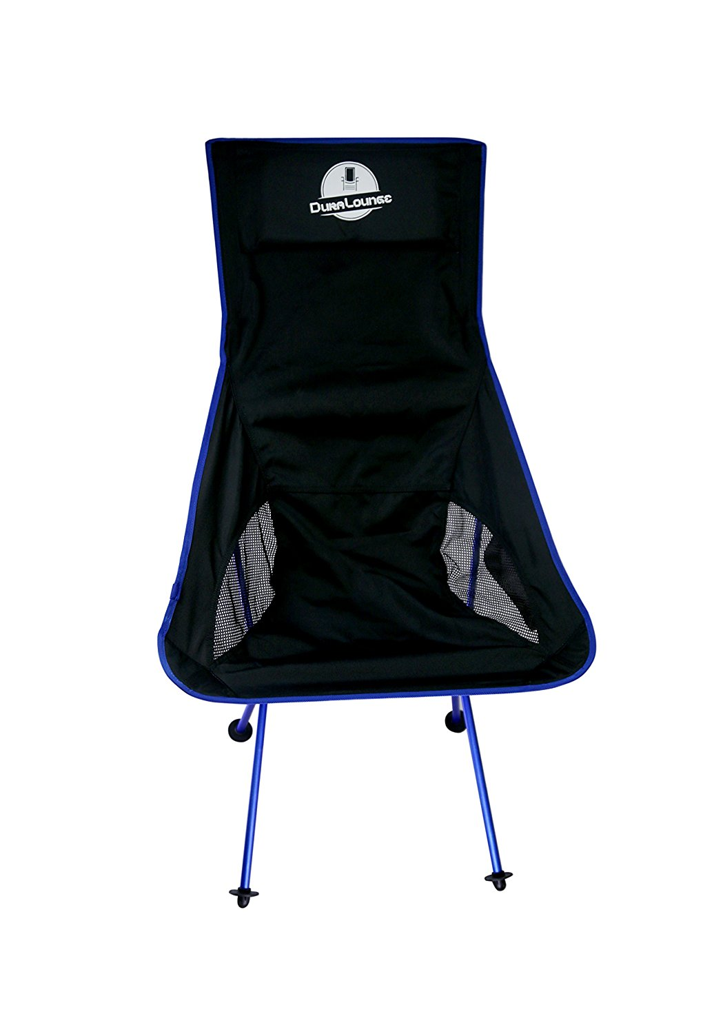 DuraLounge Premium Outdoor Camping Chair (Portable) Compact | Breathable Mesh Pockets, Bucket Seat | Travel, Sports, Beach, Lake, Hiking | Incl. Storage Bag