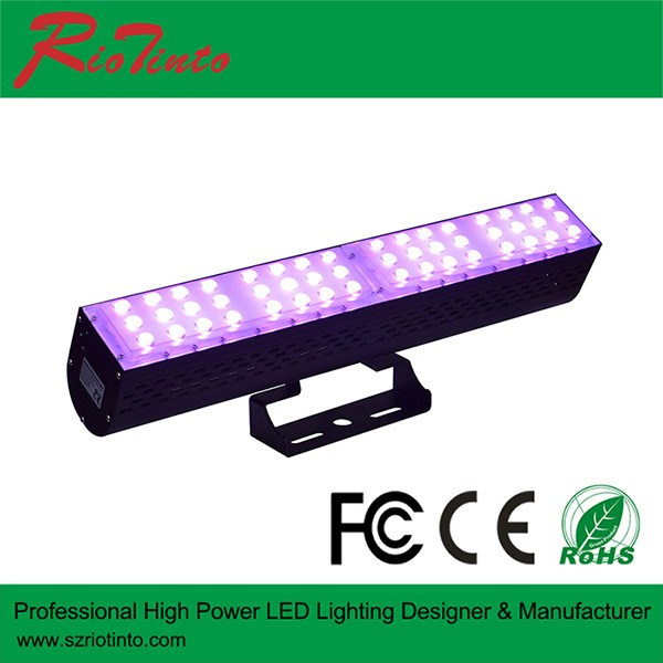 Factory wholesale price 100W DMX 512 Wall Washer LED UL list rgb led light 120V RGB LED flood lgiht FCC