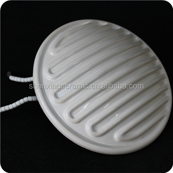 Excellent infrared ceramic heater plate far round ceramic heating element