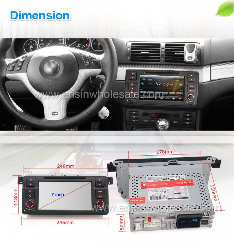 "Erisin ES7162B 7 ""Car DVD GPS Radio Bluetooth USB cho E46 Rover 75"