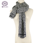 Silk scarf plaid acryl winter cashmere scarf turkey