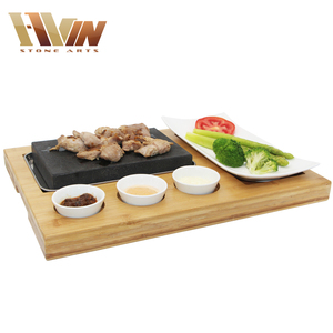 Factory Stones For Lava Rock Cooking Hot Rocks Baking Steak Rock Stone,Heat Restaurant Cooking Stone
