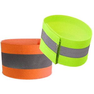 Fluorescent Yellow Stretchable Elastic Reflective Armband for Outdoor Running Biking Safety