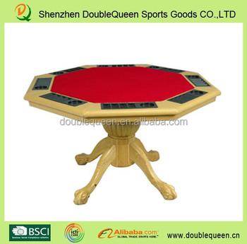 Gambe Pieghevoli Per Tavoli Vendita.Ottagono Legno Gambe Pieghevoli Tavolo Da Poker Con 8 Portabicchieri