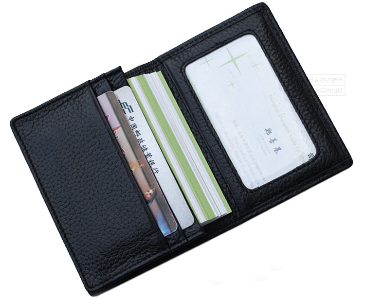 Buy black genuine leather credit card wallet man card holder orange buy black genuine leather credit card wallet man card holder orangeyellowblue large capacity business card purse bifold in cheap price on mibaba colourmoves Images