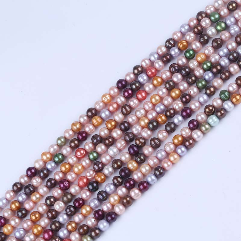 7-8mm Dyed Colorful Freshwater Pearl Strand Wholesale