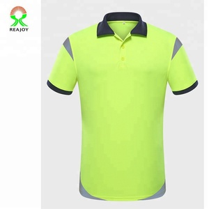 Wholesale fashion men's custom blank sports safety reflective breathable quick-dry polo shirts from China