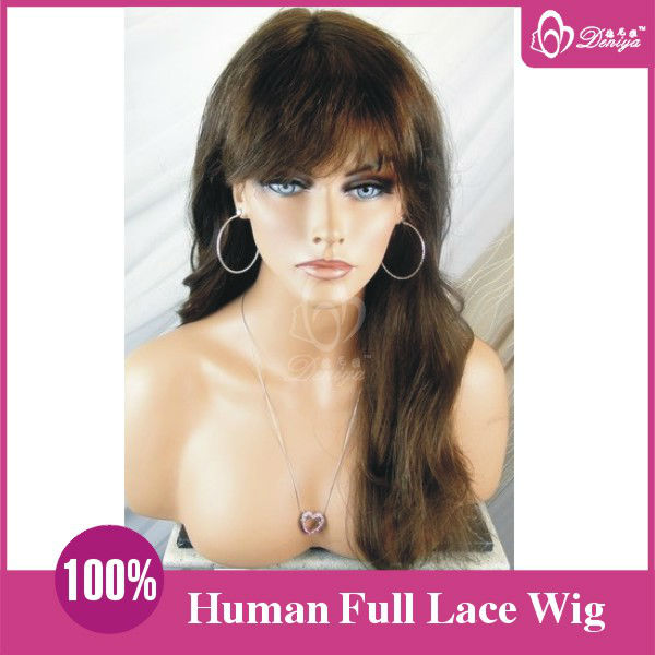 Full lace glueless indian human hair wigs for black women