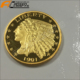 2018 Wenzhou Factory 1915 Indian Head Liberty Gold Coins Standing American Eagle
