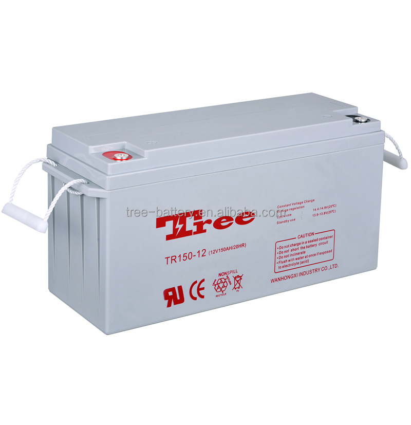 Good quality long life 24v solar battery 150ah 12v