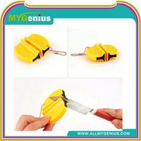 mini knife sharpener with keychain ,ML0083, mini knife sharpeners