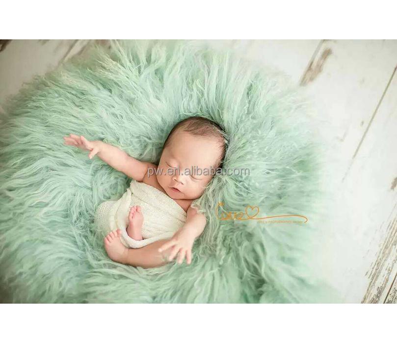 Baby Bedding Blanket & Swaddling Felted Curly Wool Blanket Flokati Rug Felt Rug Curly Felt Wool Layer Basket Stuffer Posing Backdrop Photography Props