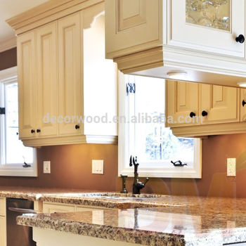 Marble Top Kitchen Cabinet Solid Wood Wall Cupboard